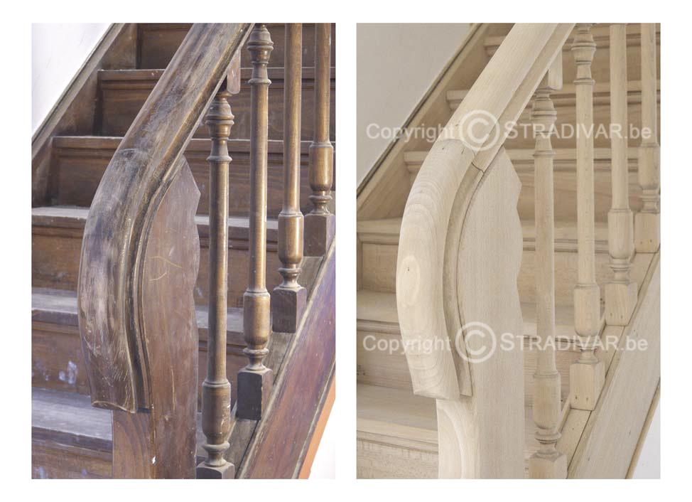 Zandstralen van hout trappen deuren balken foto - Trap ijzer smeden en hout ...