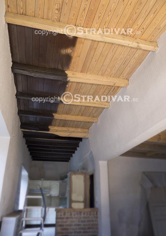 Zandstralen van hout trappen deuren balken foto - Hoe de trap houten renoveren ...